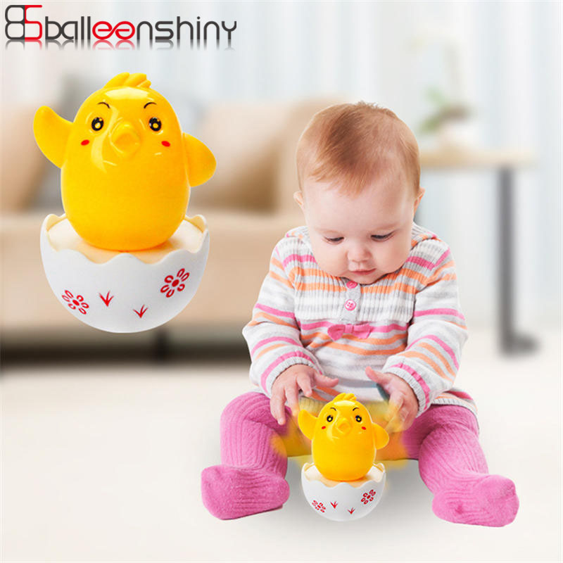 Balleenshiny Baby Toys 0-12 Months Lovely Cartoon Fun Chick Tumbler Brain Game For Boys Girls Kids Birthady Gifts Kids Toys