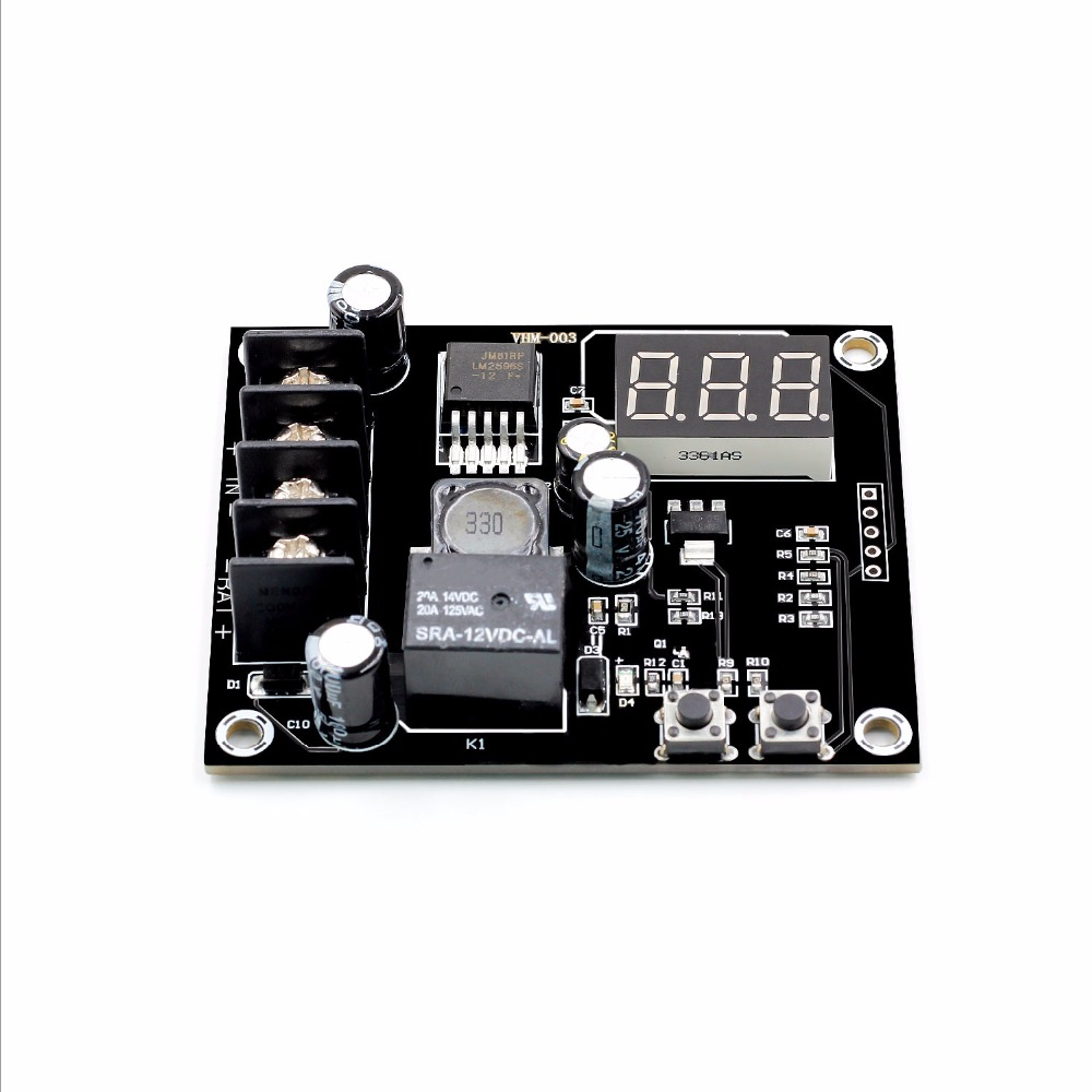 VHM-003 Charging Control Module Digital LED Display Storage Lithium Battery Charger Control Switch Protection Board 12-24V