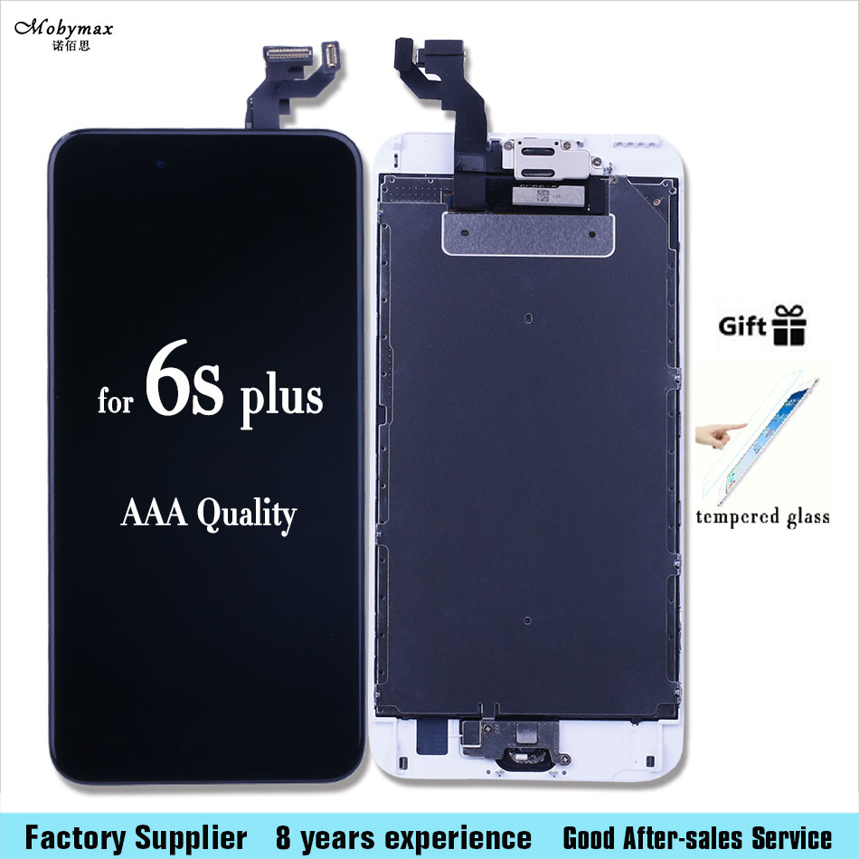 For iPhone 6S 4.7inch 6S plus 5.5 LCD Display Touch Screen Digitizer Full Assembly + Home Button+tool kit +Tempered glass