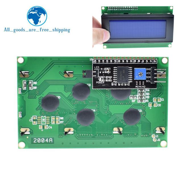 1PCS LCD2004+I2C 2004 20x4 2004A blue screen HD44780 Character LCD /w IIC/I2C Serial Interface Adapter Module For Arduino