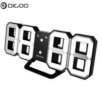 Digoo DC K3 8 Polegada multi função grande 3d led relógio de parede digital despertador com função snooze 12/24 horas de exibição de segurança|clock alarm clock|clock alarm|clock wall clock -