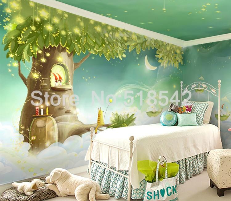 HTB1xun_KpXXXXahXXXXq6xXFXXXu Custom Photo Wallpaper 3D Dream Cartoon Children Room Living Room Bedroom Home Decoration Wall Art Mural Wallpaper For Walls 3 D
