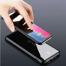 Lcd 10000mAh QI Беспроводное зарядное устройство 2A Dual USB power Bank для iPhone X 8 samsung S9 зарядное устройство 5W Беспроводная зарядная площадка