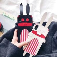 Aoweziic 2018 г. Новая Корейская женская мобильный телефон оболочки прилив бренд мультфильм кролик для iphonex личность карты 6 S 7 8 плюс