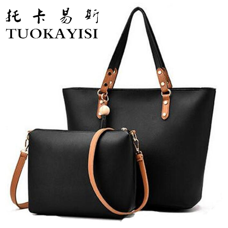 2pcs/set Handbags Ladies Bags Designer Big Shoulder Bag Tassel Satchels PU Leather Bags Brand Women's Large Casual Tote Desigue wholesale blanks pu faux leather handbags casual tote bag large capacity square satchels bag dom1038113