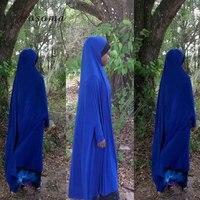 Muslim Black Batwin Jibab Kaftan Overhead Khimar Abaya Islamic Clothes Robe Kimono Instant Hijab Arab Worship