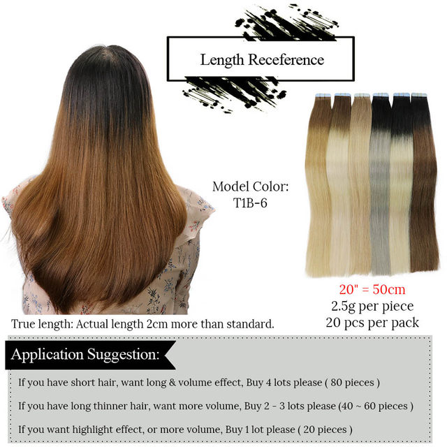Online Shop Mrshair 20 Inches Tape In Extensions Ombre 20pcs Non