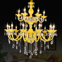 European Chandeliers Living Room Lights for Restaurant Modern Simple modern glass chandelier Light candle crystal chandeliers