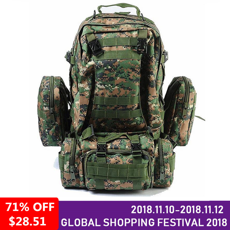 High Quality 50l Large Capacity Travel Military Backpack Men Multifunctional Men Backpack Rucksack Bag military army backpack camouflage backpacks large capacity men bag high quality 50l multifunction backpack