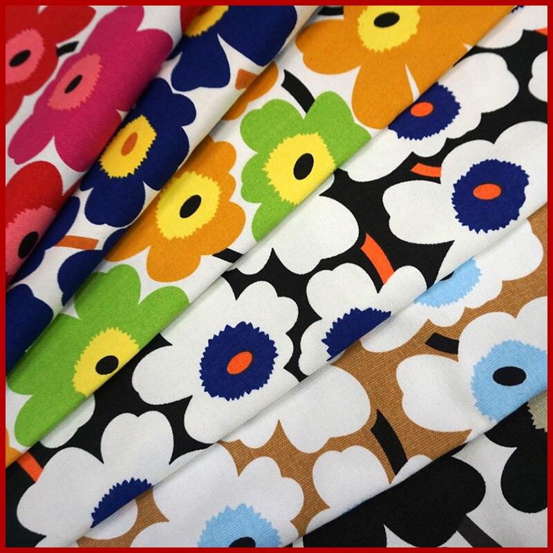 ¡Apresuraron! 90*145 cm costura la tela tejidos punto para coser patchwork lote telas lienzo tela de lino flor grande d30