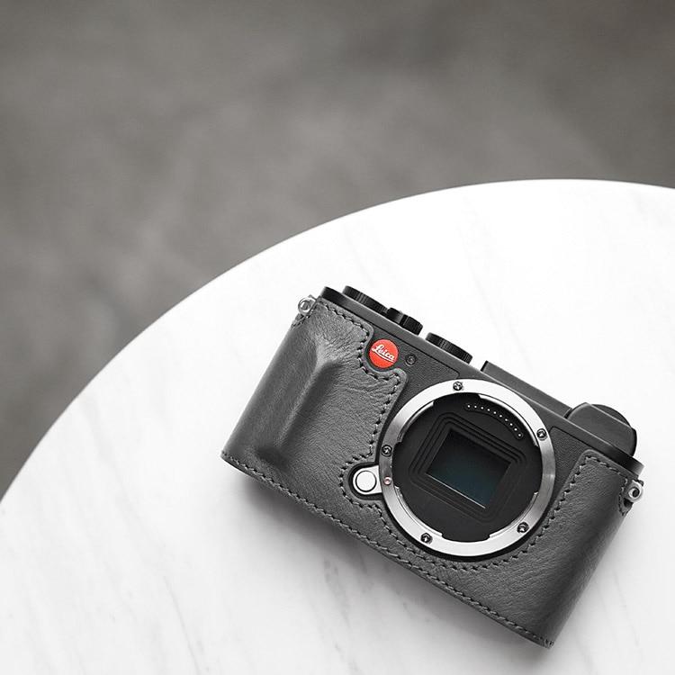цена на Mr.Stone Handmade Genuine Leather Camera case Video Half Bag Camera Bodysuit For LEICA CL Camera