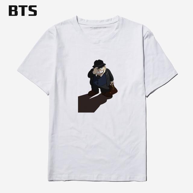 af304b121bd BTS Warau Salesman NEW Basic T Shirt Men Summer Short Sleeve Funny Cartoon  Fashion T-Shirt Plus Size 4xl Cotton Tees Shirt