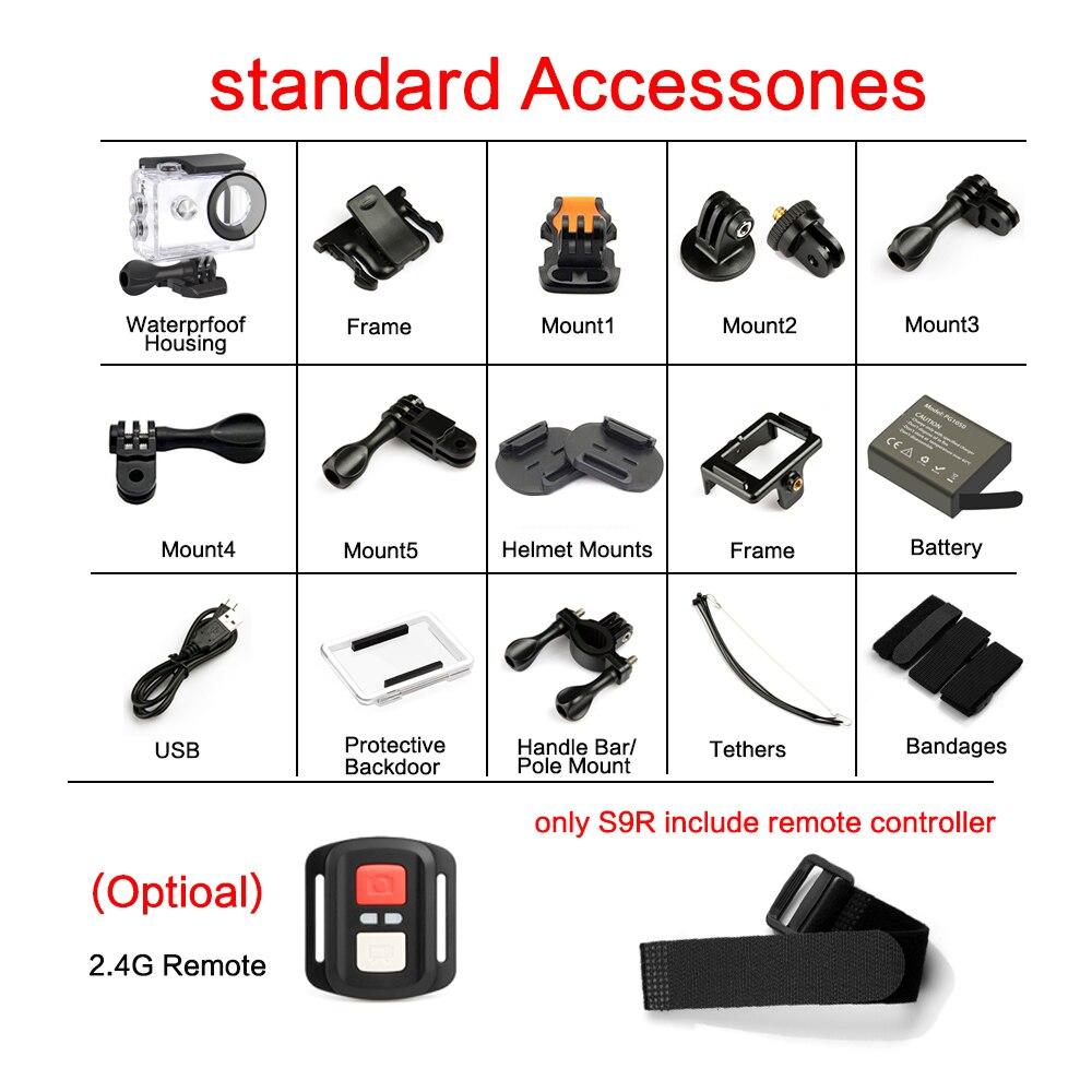 """GEEKAM S9R/S9 Action Camera Ultra HD 4K/10fps WiFi 2.0"""" Underwater Waterproof Helmet Video Recording Cameras Sport Cam-5"""