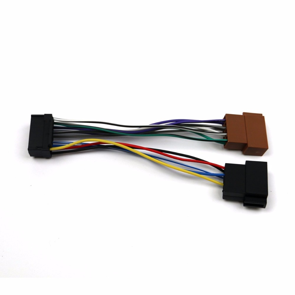 autostereo iso standard harness car audio for sony cd jvc 16 pin 30x12mm [ 1000 x 1000 Pixel ]