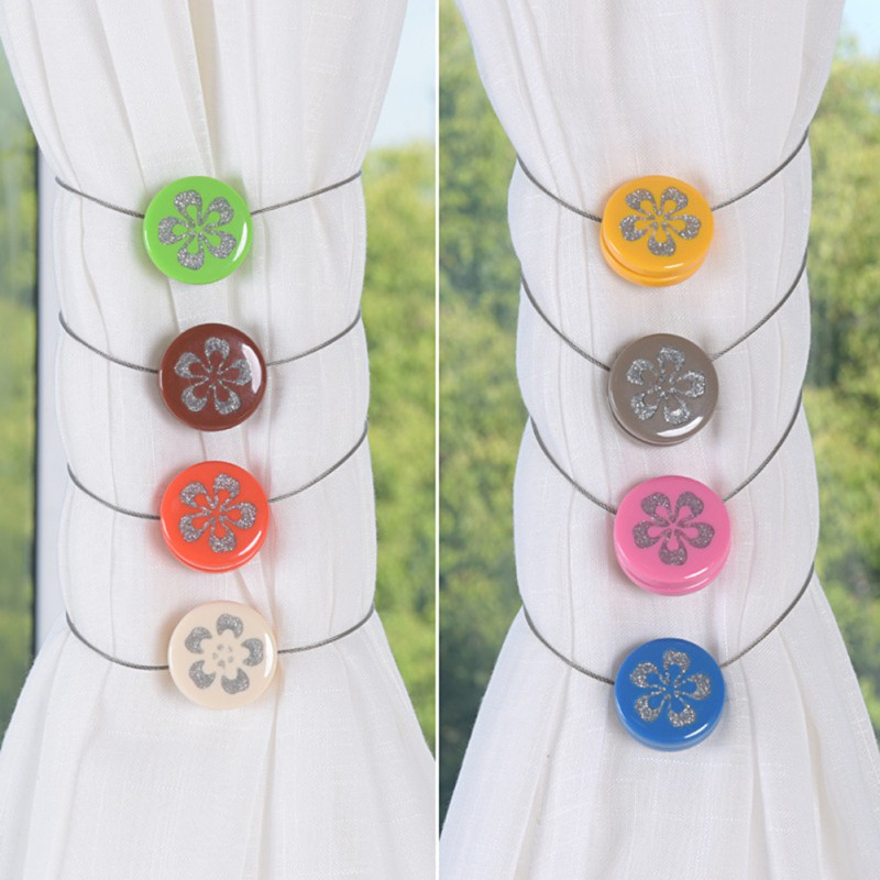 2018 Magnetic Curtain Tieback Buckle Holder Resin Curtain Clip Decor Curtain Tie Rings & Buckles Ball Shaped Accessories