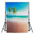 3x5ft Винил Фотографии Фоном песчаный пляж Природа Тема Для Студии Фото Реквизит Фотографические Фонов ткани 1 м х 1.5 М