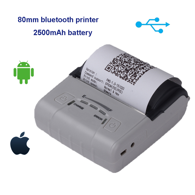80mm thermal pocket usb receipt printer IOS portable android bluetooth  printer quality mobile pos machine provide free SDK Win10-in Printers from