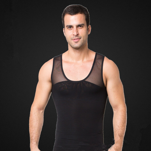 posture corrector men tank top compression belly fat burning weight vest hot shapers mens stomach corset bodybuilding shapewear