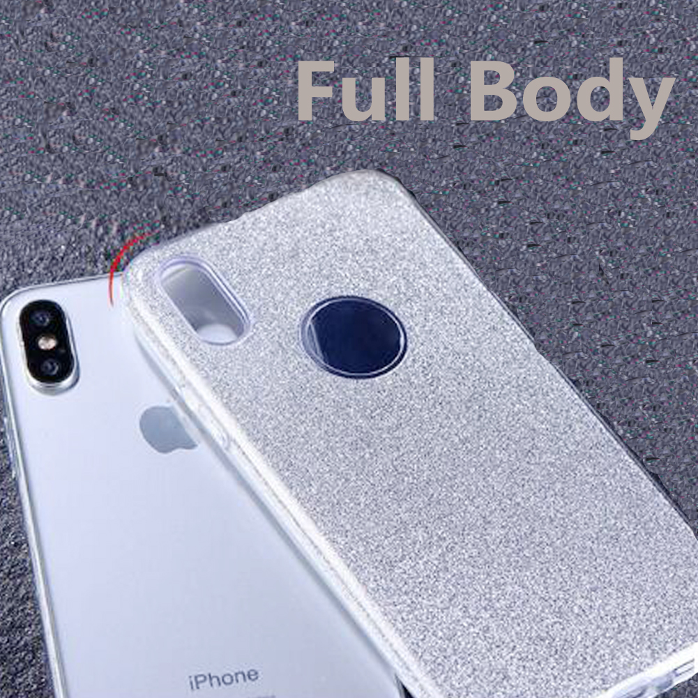 JETJOY For iPhone 10 Ten X Case Luxury Silicone Cases Flexible Hard Shining Glossy Slim Sparkle Bling Cover Shockproof Cases