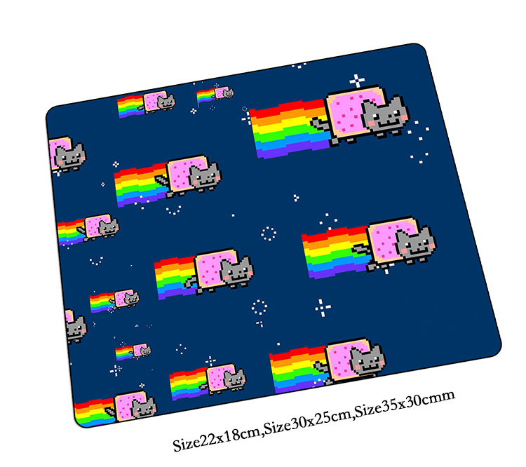 nyan cat mouse pad best gaming mousepad gear cool gamer mouse mat pad game computer locked edge padmouse photo play mats