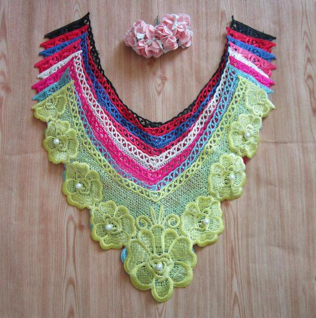 34 28cm Beautiful Venice Pearl Lace Applique Neckline Lace Collar Sewing  Trims DIY Wedding Handmade Craft Garment Accessories f97f9b76a11a