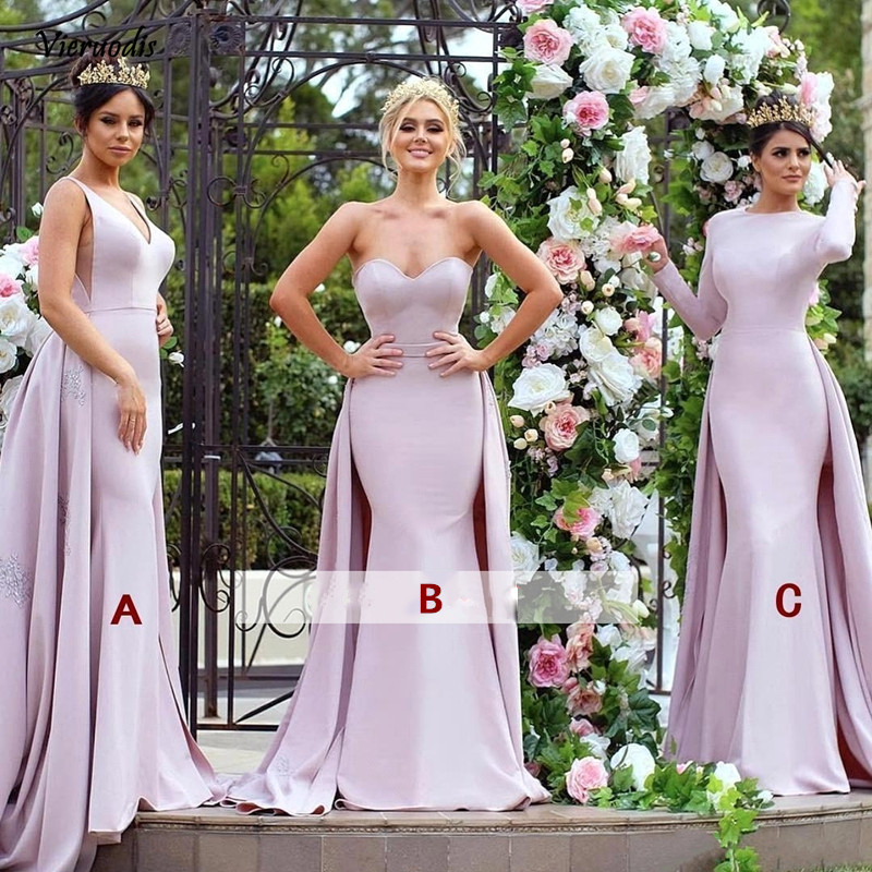 2019 Mermaid Long  Bridesmaid Dresses Sweetheart Wedding Party For Women