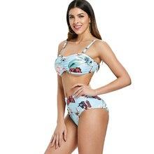 Brazil Sexy Bikini Ladies Large Size Swimsuit High Waist 2019 New