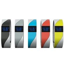Монитор Сердечного Ритма Смарт-браслет двойной цвет Ремешок Браслет Носимых трекер активности вызова напоминание группы для мобильных устройств