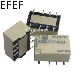 Реле сигнала AGQ200A03, AGQ200A4H, AGQ200A12, AGQ200A24, 8 контактов, 1 А, 3 в, 100% в, 12 В, 24 В