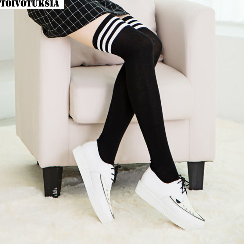 TOIVOTUKSIA Medias femeninas Calcetines hasta el muslo Medias para mujer Calcetines calientes Calcetines hasta la rodilla Calcetines hasta la rodilla Kalgotki para mujer