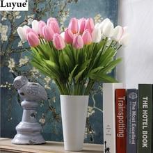 Венки тюльпан букет искусственный настоящее декоративные цветы pu сенсорный цветок свадебные