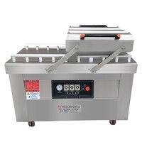 Автоматическая вакуумная пищевая упаковочная машина Двойная камера вакуумная сухая влажная упаковочная стальная упаковочная машина DZ 600