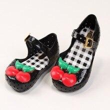Été Enfants Filles Cerise de Bande Dessinée Sandales Mini Melissa Gelée Sandales Pour Bébé Filles Plage Chaussures Enfants Infantil Chaussures