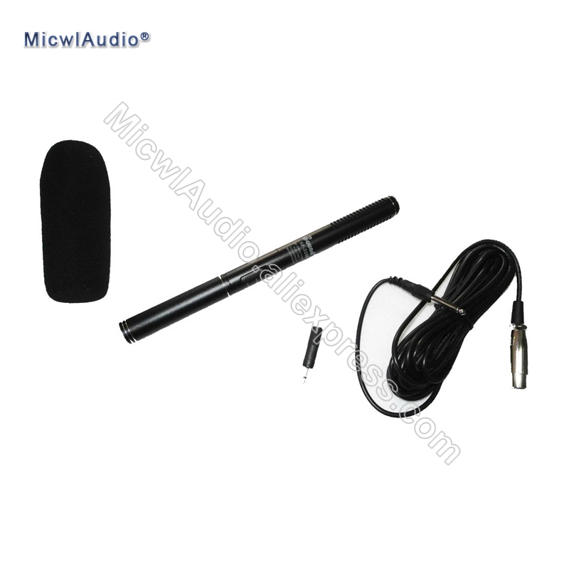XLR 3Pin Male Digital Recorder , Mixing console , Camera etc. Microphone Shotgun Interview Mic for ZOOM H4N