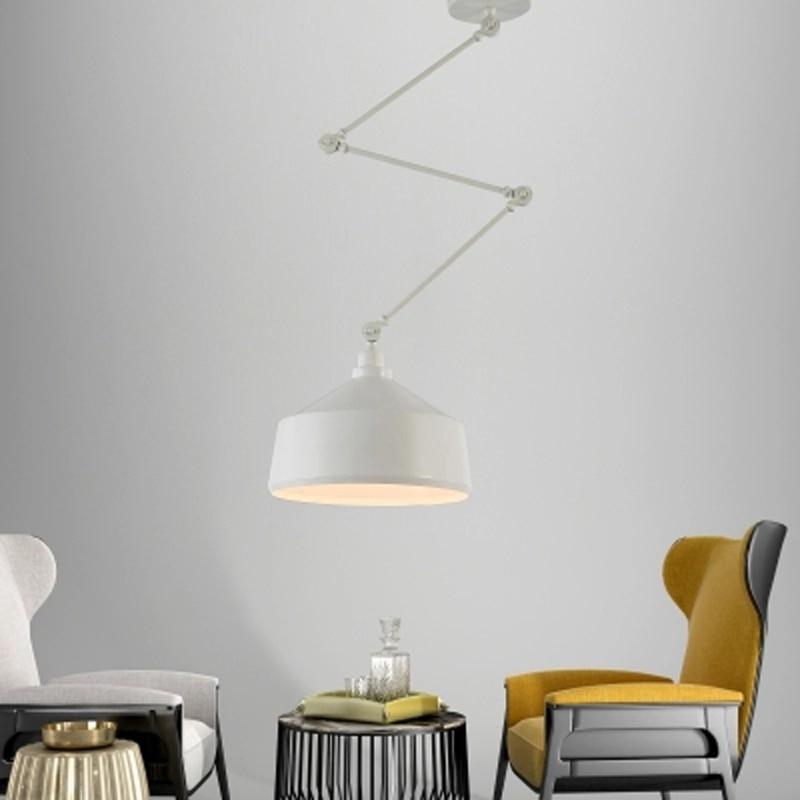 Nordic DIY Personality Pendant Lights Folding Iron Lamp Hanging Lamp Bedroom Study Bar Restaurant Creative Adjustable