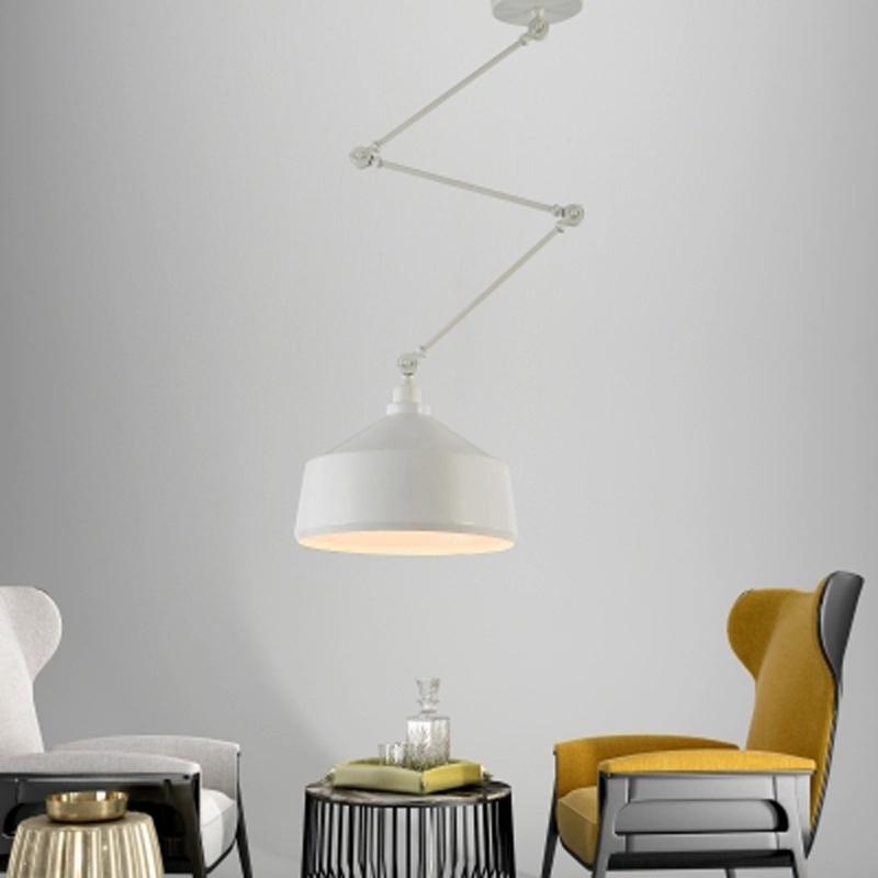 Nordic DIY Personality Pendant Lights Folding Iron Lamp Hanging Lamp Bedroom Study Bar Restaurant Creative Adjustable Lights цена