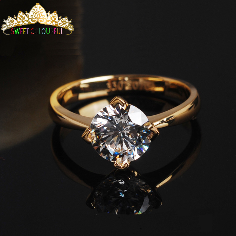 100%  18K 750Au Gold  Moissanite  Diamond Ring  D Color VVS  With National Certificate MO-0H10