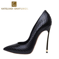 Women Shoes High Heels Women Pumps Stiletto 12CM Heels Nude Shoes Woman High Heels Patent Leather