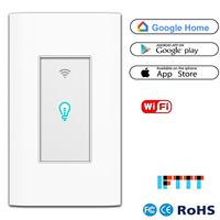 Smart Light Switch WiFi Wall Wireless Touch Switch Compatible Alexa Home Remote Control Appliances Timing Function Overload