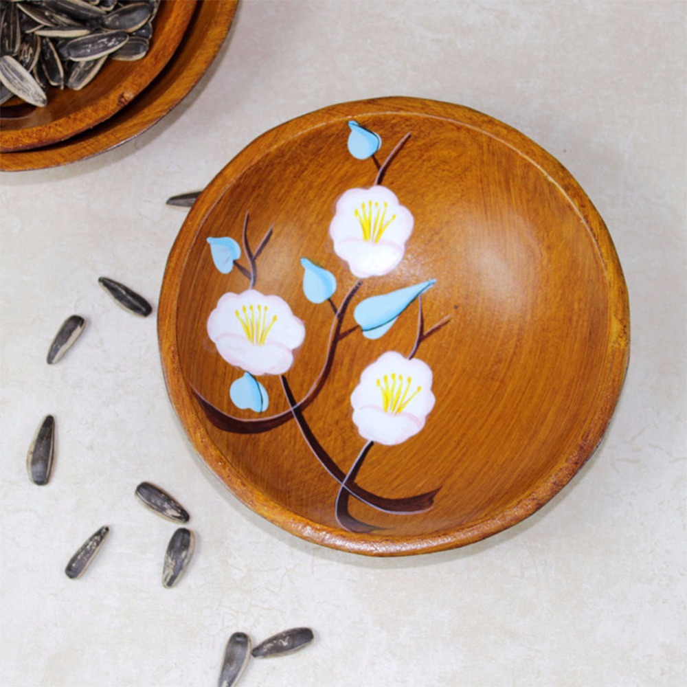 Hand Painted Flowers Serving Plate Round Fruit Dessert Snack Candy Platter Bowls Home Tableware C42 2
