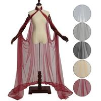 Lady's Mesh Cape Fairy Elf Wedding Dress Elven Queen Princess Collared Cloak Medieval Costume