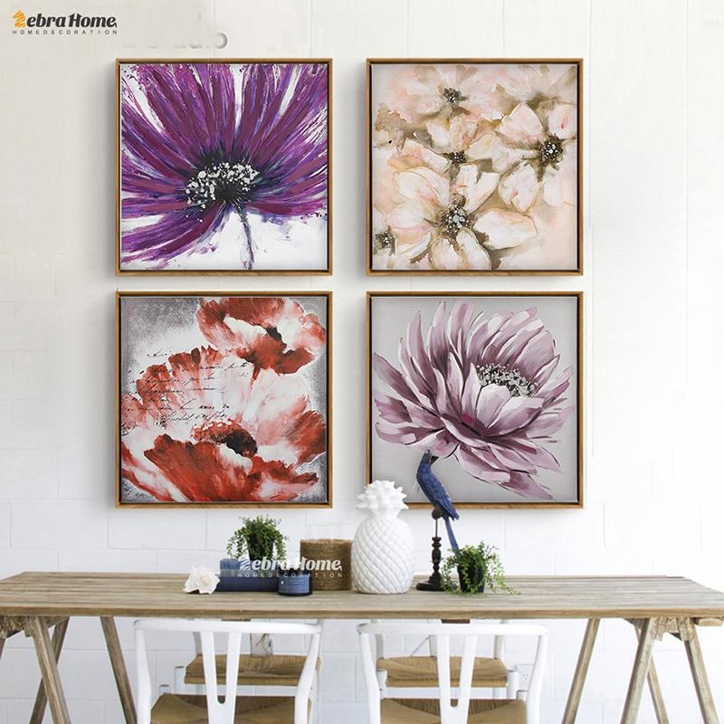 Nástěnné umění Obrazy na plátně a tisky Umělecká reprodukce Obraz Květina Nástěnné obrazy do obývacího pokoje Žádný plakátový rám Cuadros