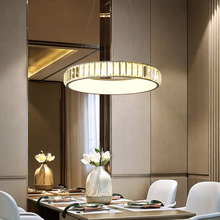 цены Modern led pendant light Crystal lighting ring restaurant hanging round kitchen lights living room dining room pendant lamp