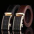 Lujo caliente de moda diseño de negocio hombres cinturones de cuero hebilla automática hombres accesorios de la correa de la cintura ocasional correa de la correa para hombre