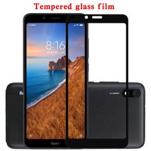 Full screen protector for Xiaomi Redmi 7A protective glass on the for xiaomi redmi 7a xiamo redmi 7 a xiaome tempered glass film(China)