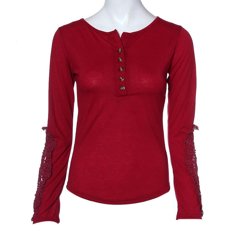Hot Sale Sexy Lace Long Sleeve Women Blouse Clothing Dressed Shirts New Arrivals 2018 Vetement Femme Fashions Dames Bloezen