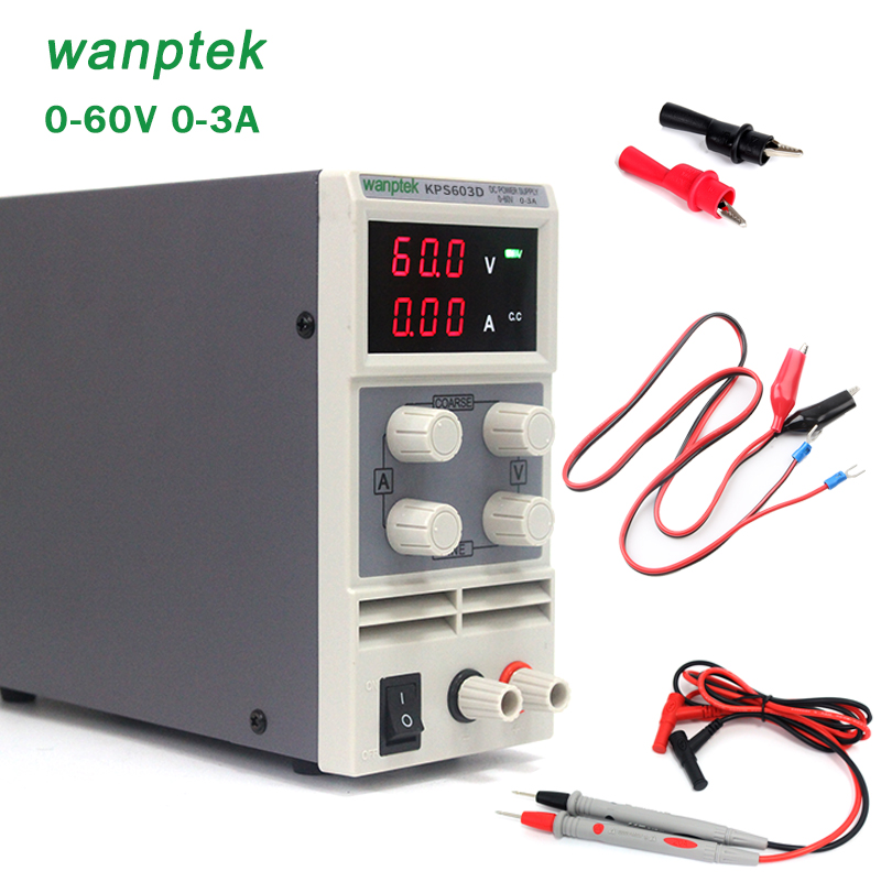 Newest mini switching DC power supply KPS603D 60V 3A Single Channel adjustable SMPS Digital 0.1V 0.01A DC power supply kuaiqu mini dc power supply switching laboratory power supply digital variable adjustable power supply 0 60v 0 5a ps605d