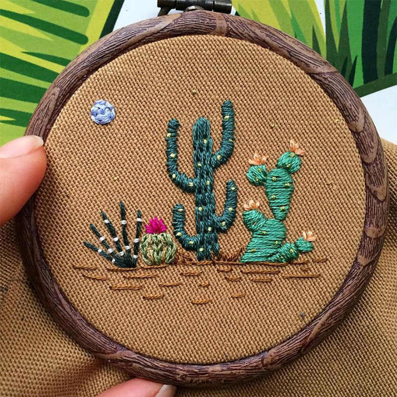 Practical Handcraft Cross Stitch Embroidered Kits Creative 3D DIY Embroidery Material Package Embroidered Material Sewing Decor