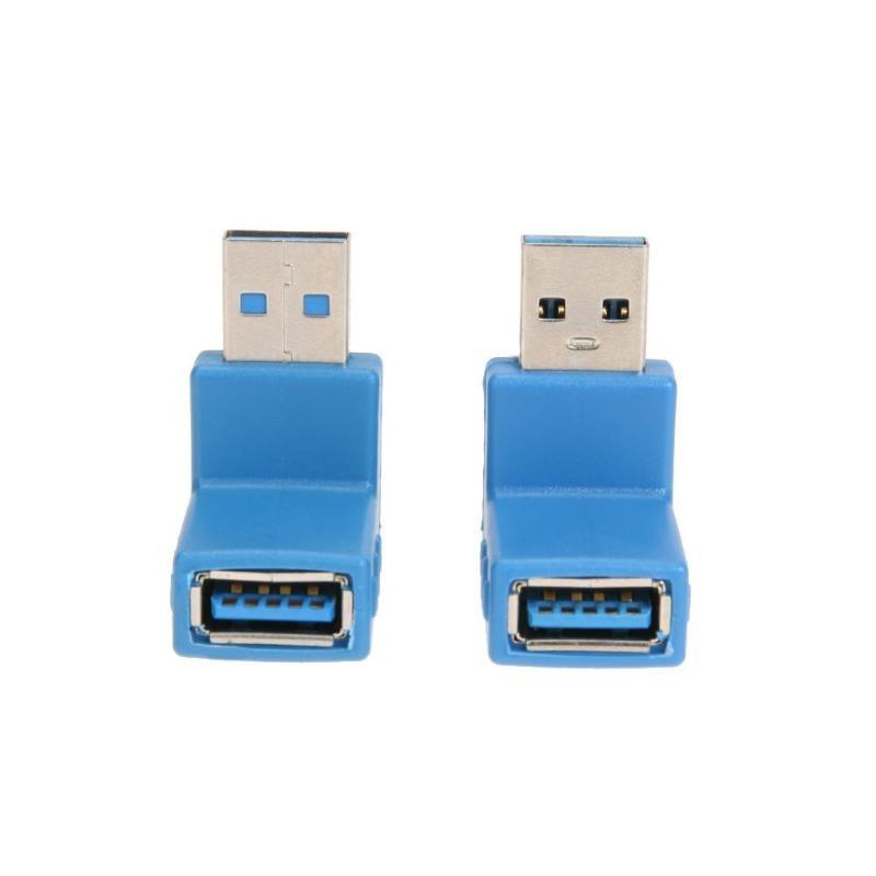 USB 3,0 мужчин и женщин адаптер L Форма 90 градусов под прямым углом супер Скорость передачи данных разъем зарядки конвертер