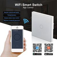 AC 220V WiFi Smart Switch Touch Panel APP Control Work With Amazon Alexa Timing Function Voice